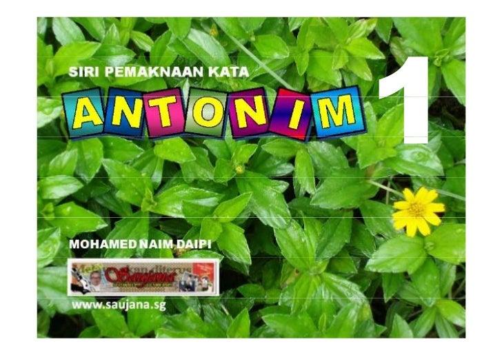 Antonim P5/P6 Bilangan 1
