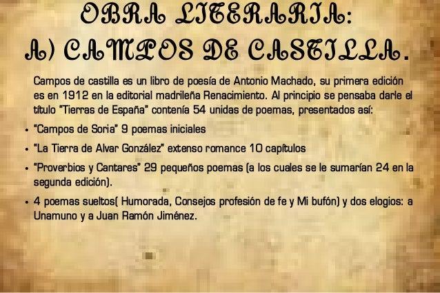 Campos de Castilla Libro Campos de Castilla es un Libro