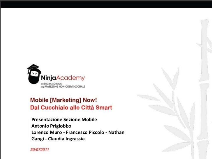 Presentazione Sezione Mobile<br />Antonio Prigiobbo<br />Lorenzo Muro - Francesco Piccolo - Nathan Gangi- Claudia Ingrassi...