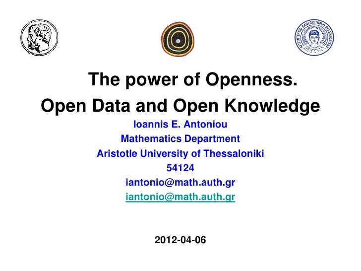 Antoniou: complex systems and web