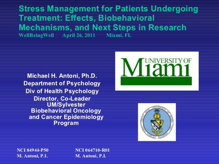 Stress Management for Patients Undergoing Treatment: Effects, Biobehavioral Mechanisms, and Next Steps in Research  WellBe...