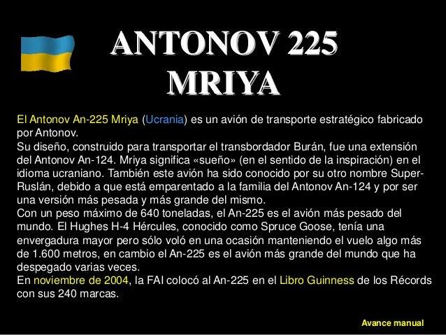 Antonov 225. Un auténtico gigante del aire, el avión mas grande del mundo es