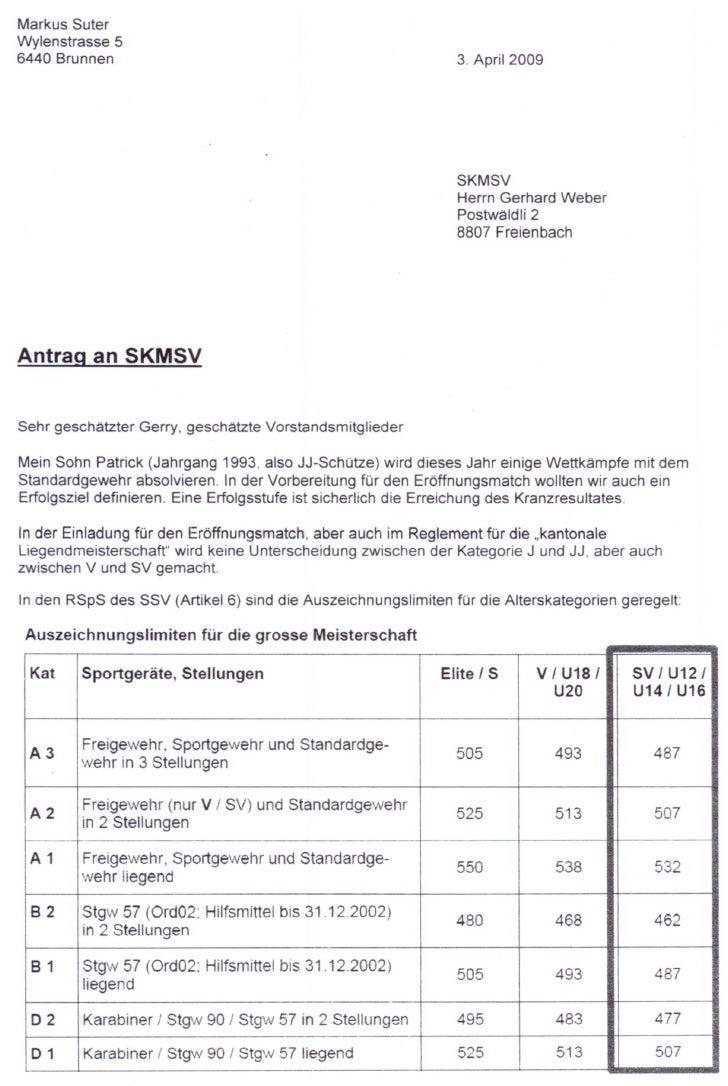 Antrag Markus Suter Vom 3.4.09