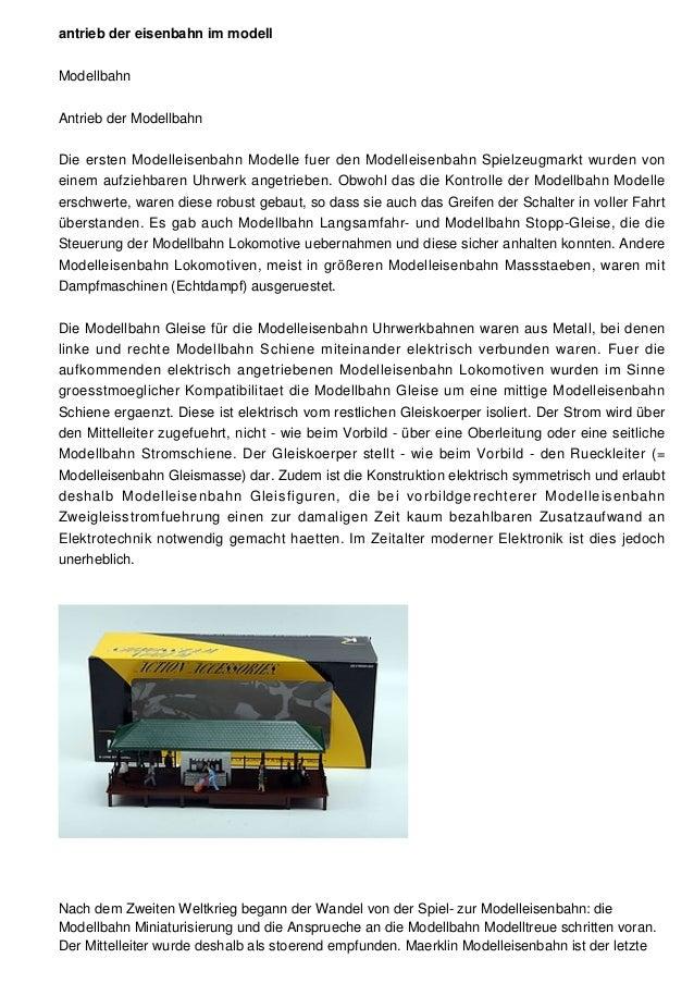 antrieb der eisenbahn im modell Modellbahn Antrieb der Modellbahn Die ersten Modelleisenbahn Modelle fuer den Modelleisenb...