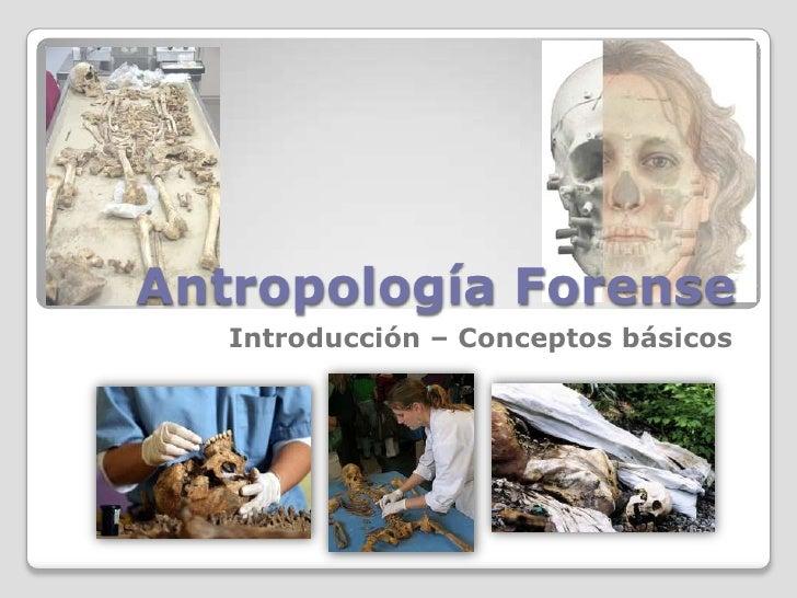 Antropología Forense   Introducción – Conceptos básicos