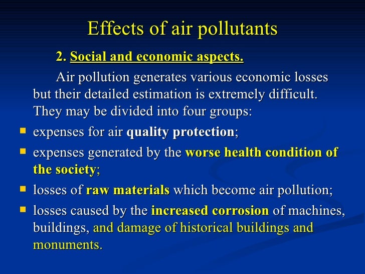 The effects of poverty and pollution on economy - Research Paper Example