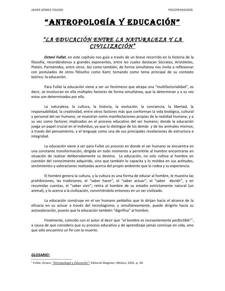 """JAVIER GÓMEZ TOLEDO                                                                        PSICOPEDAGOGÍA                """"..."""