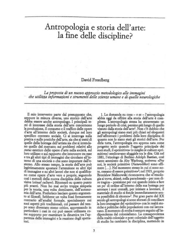 Antropologia e storia dell arte:                     la fine delle discipline?                                            ...