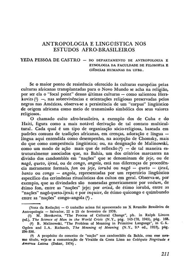 Antropologia e linguística   afroasia n12-p211 yéda pessoa de castro