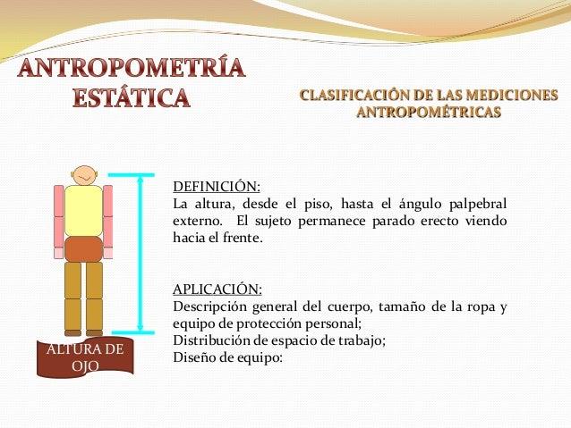 antropometria est tica y din mica On antropometria estatica