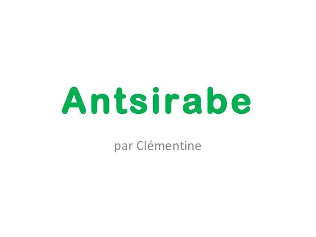 Antsirabe  par Clémentine