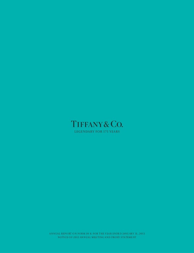 Anual Report Tiffany & Co.