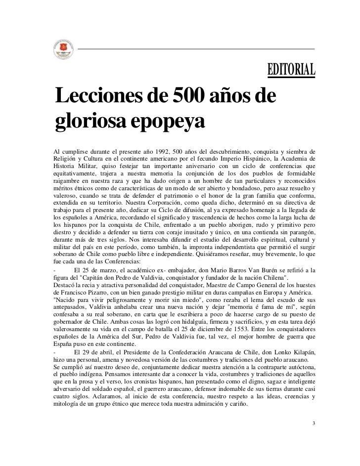 EDITORIALLecciones de 500 años degloriosa epopeyaAl cumplirse durante el presente año 1992, 500 años del descubrimiento, c...