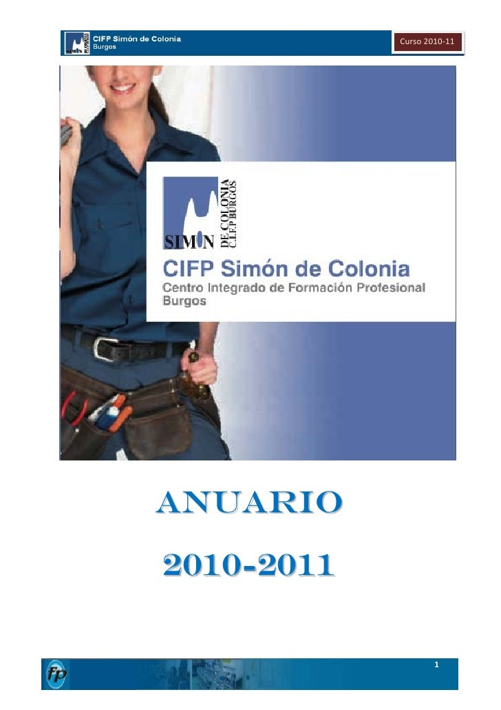 Curso2010‐11                                     ANUARIO    2010-2011                        1