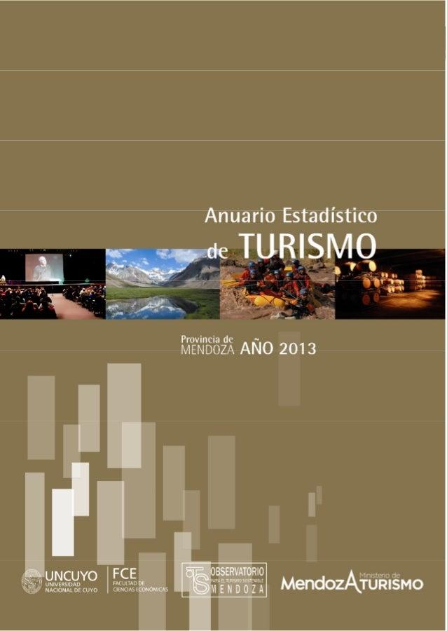 Anuario Estadístico de Turismo de Mendoza 2013