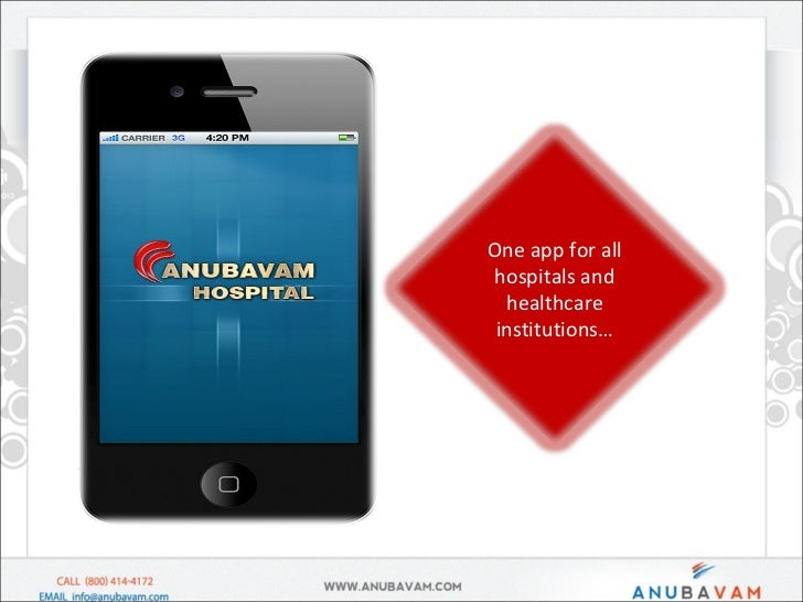 One app for all hospitals and healthcare institutions…