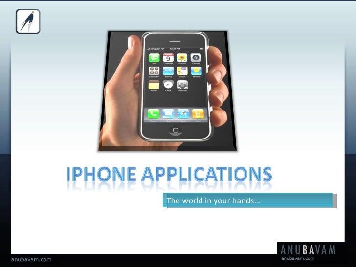Anubavam Technologies I Phone Offerings
