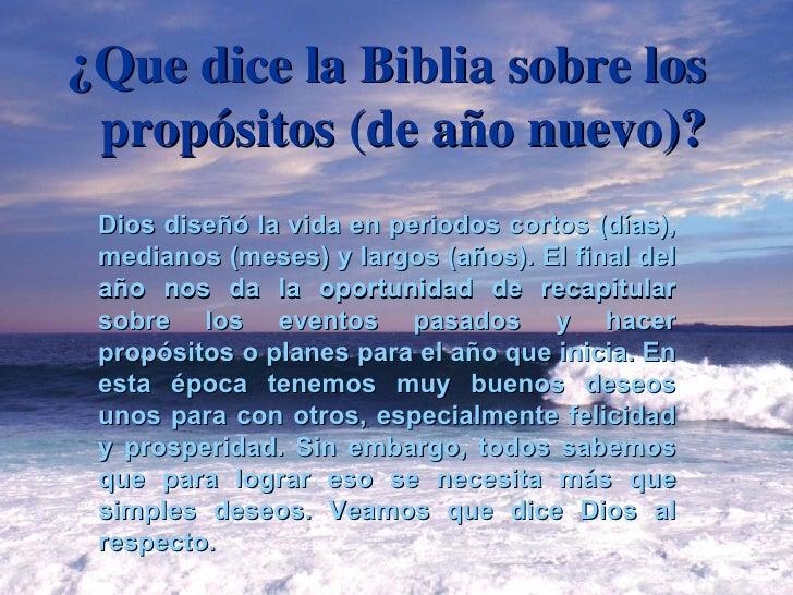 ¿Que dice la Biblia sobre los propósitos (de año nuevo)? Dios diseñó la vida en periodos cortos (días), medianos (meses) y...
