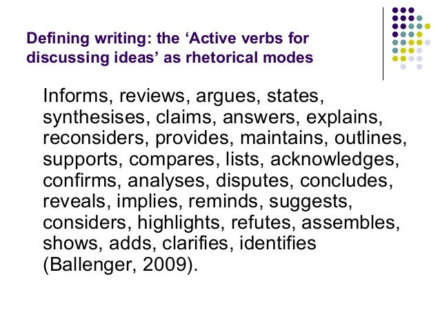 Verb tense for literature review