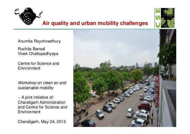AIr quality and urban mobility challenges, Chandigarh