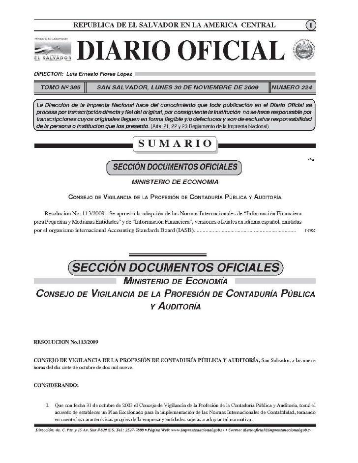 Documentos NIIF para PYMES El Salvador