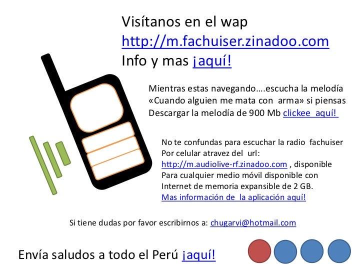 Visítanos en el wap                      http://m.fachuiser.zinadoo.com                      Info y mas ¡aquí!            ...