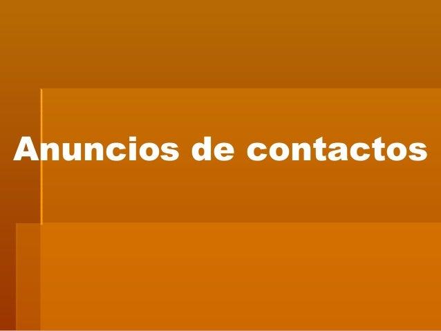 Anuncios de contactos