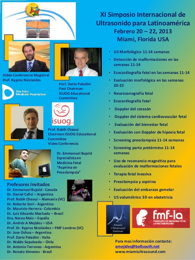 XI Simposio Internacional de                                                        Ultrasonido para Latinoamérica        ...