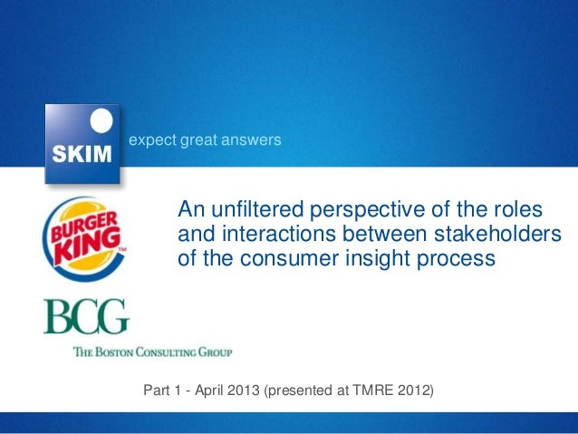 expect great answers      An unfiltered perspective of the roles      and interactions between stakeholders      of the co...