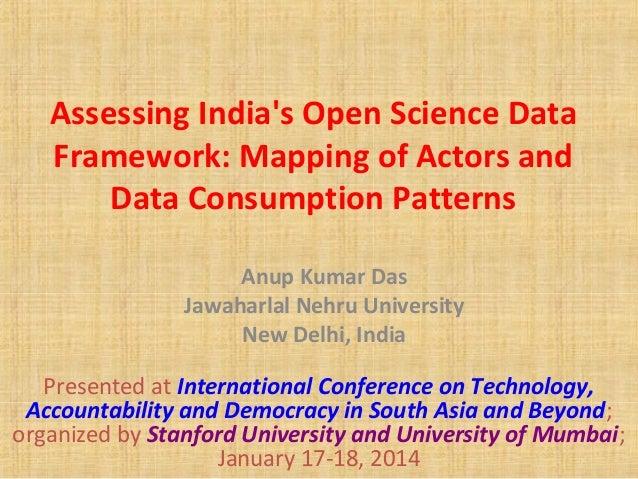 Assessing India's Open Science Data Framework