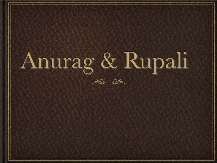 Anurag&Rupali
