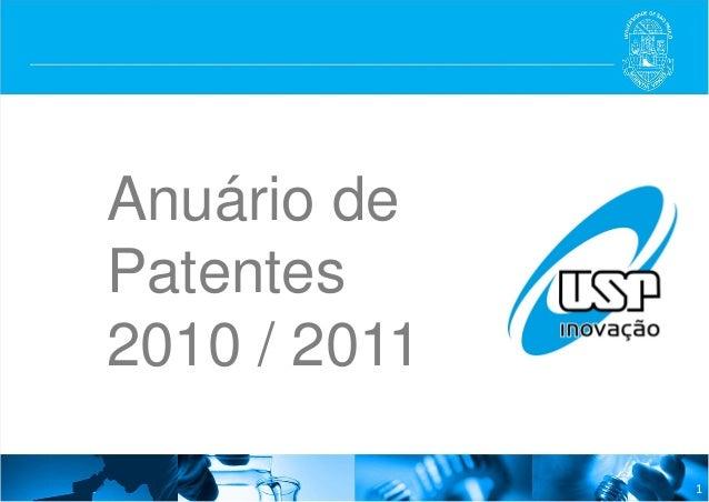 Anuário de patentes USP 2010-2011