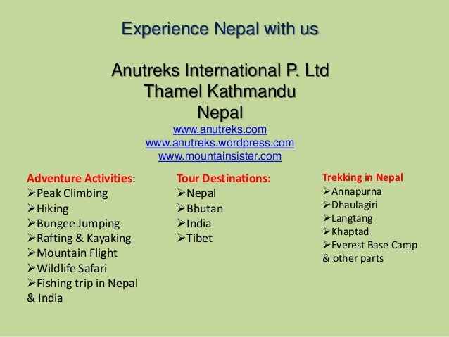 Trekking in Nepal--Experience Nepal with us