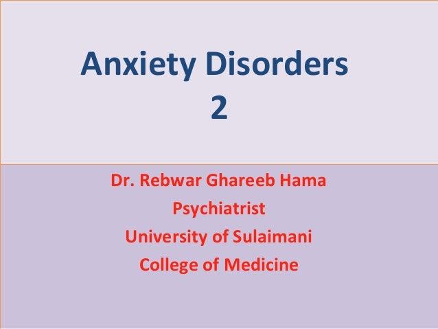 Psychiatry 5th year, 2nd lecture (Dr. Rebwar Ghareeb Hama)