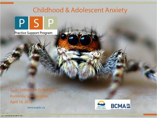 Assessment and management of anxiety in children and youth for family physicians.