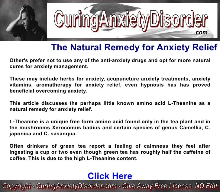 anxiety and alternative medicine