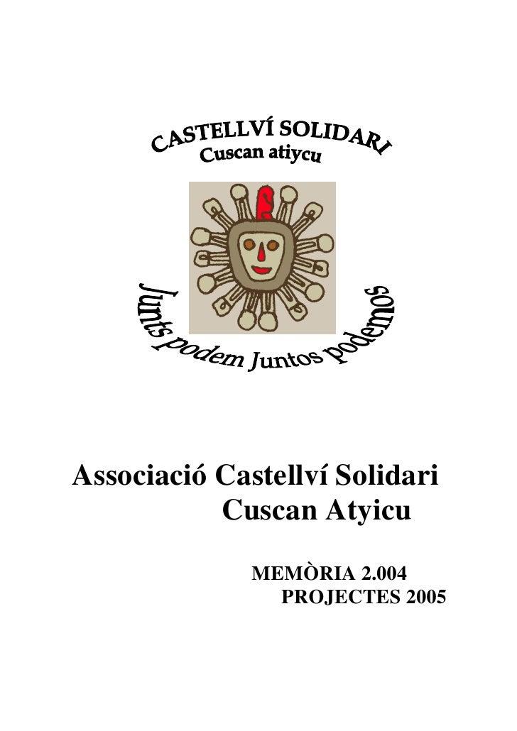 Memòria Castellví Solidari - Junts Podem (any 2005)