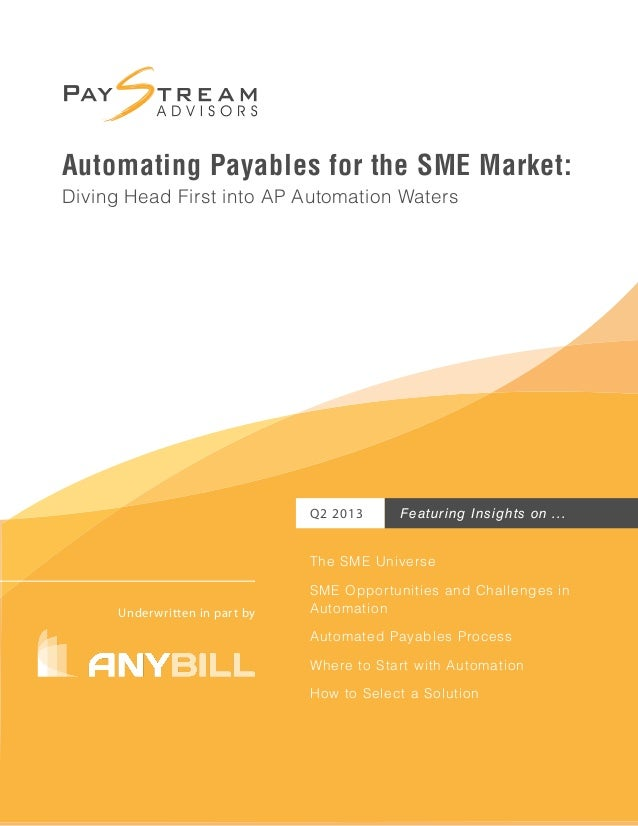 Automating Payables for the SME Market: Diving Head First into AP Automation