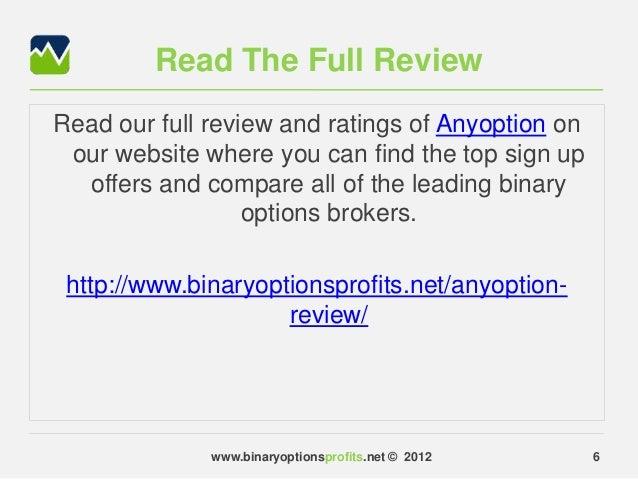 Binary broker reviews
