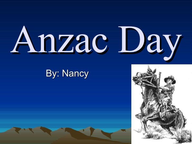 Anzac Day By: Nancy