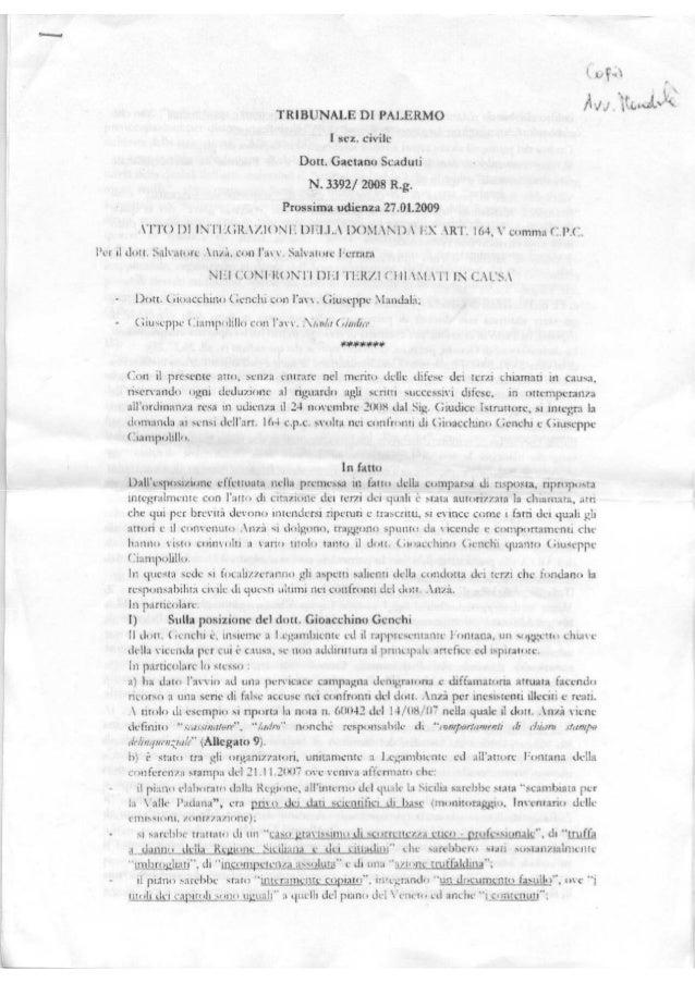 Anza' genchi ciampolillo fontana legambiente proced 3392 2008 udienza27 1 09 scaduti  2 2 11 marletta