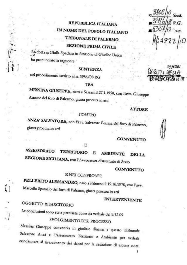 Anza sentenza  condanna 2708 2010 5 3 2010  dirigente assessorato  ambiente anza diffamazione messina (1)