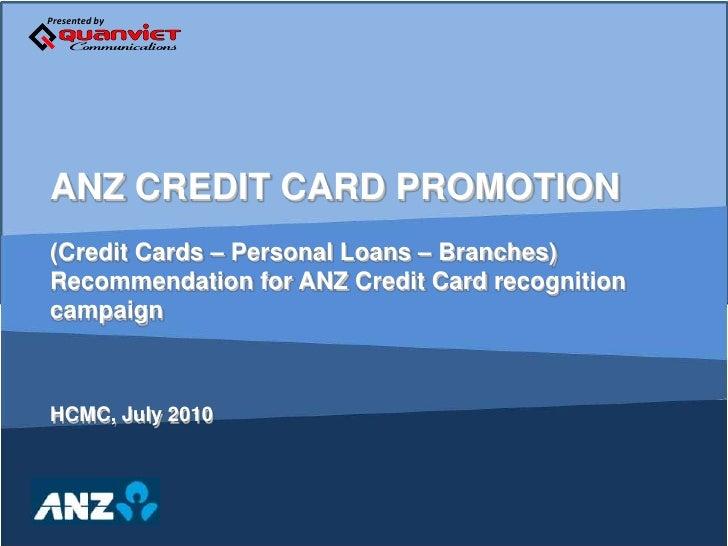 Anz Credit Card Roadshow