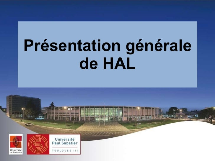 Présentation générale de HAL