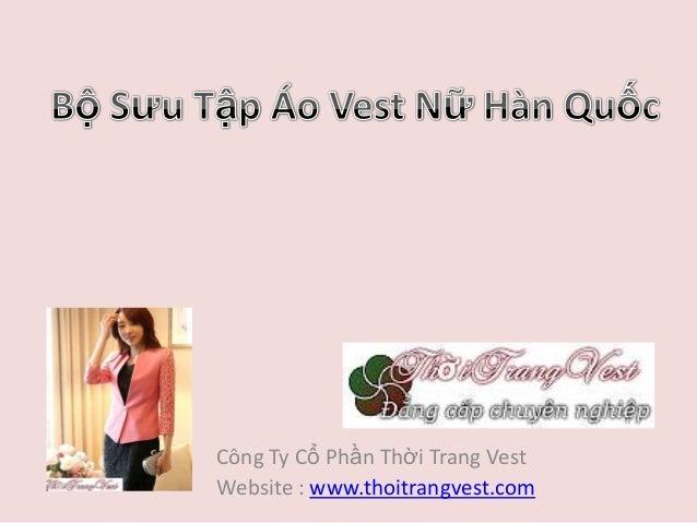 Áo Vest Nữ đẹp Hàn Quốc 2013