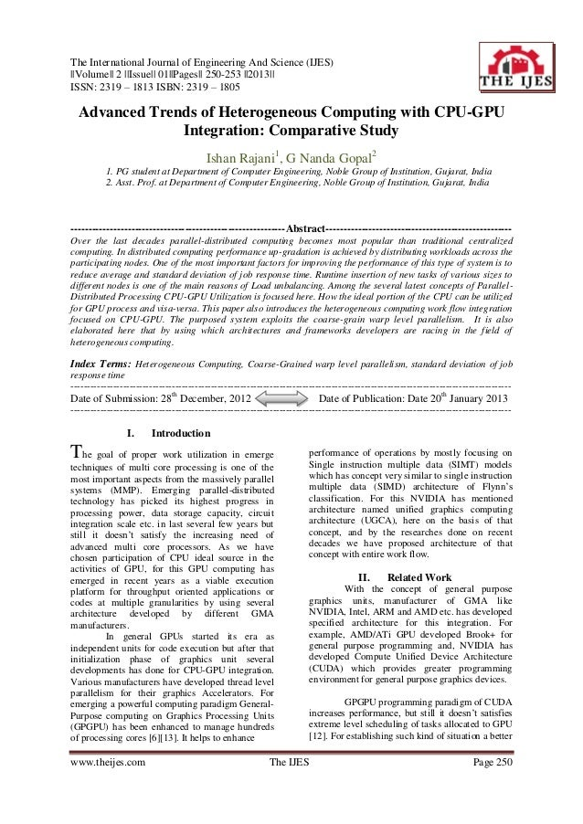 The International Journal of Engineering And Science (IJES)||Volume|| 2 ||Issue|| 01||Pages|| 250-253 ||2013||ISSN: 2319 –...