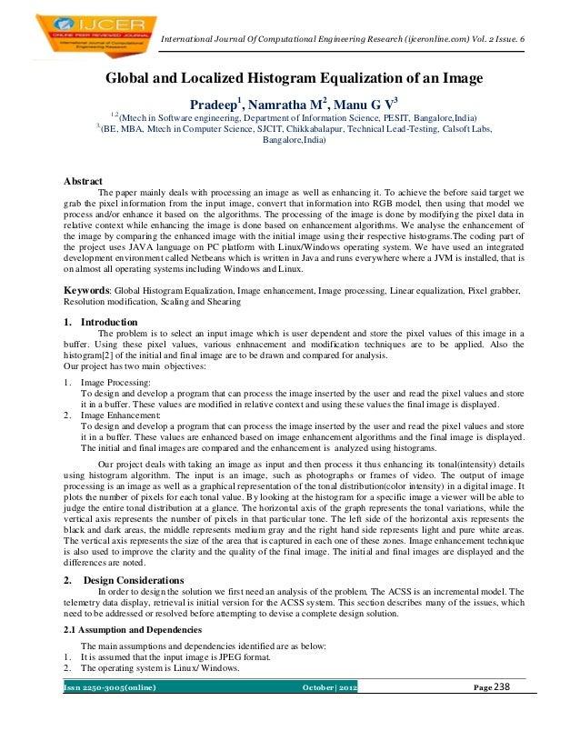 International Journal Of Computational Engineering Research (ijceronline.com) Vol. 2 Issue. 6              Global and Loca...