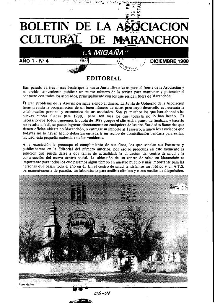 AÑO 1 - N O 4                                               t.-        '   . .1   DICIEMBRE 1988                          ...