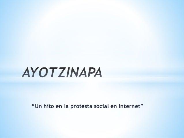"""""""Un hito en la protesta social en Internet"""""""