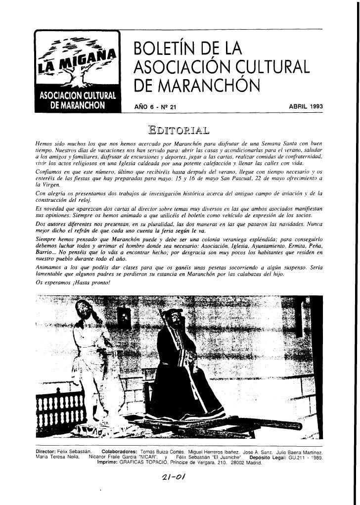 AñO 6 Nº 21 Abril 1993